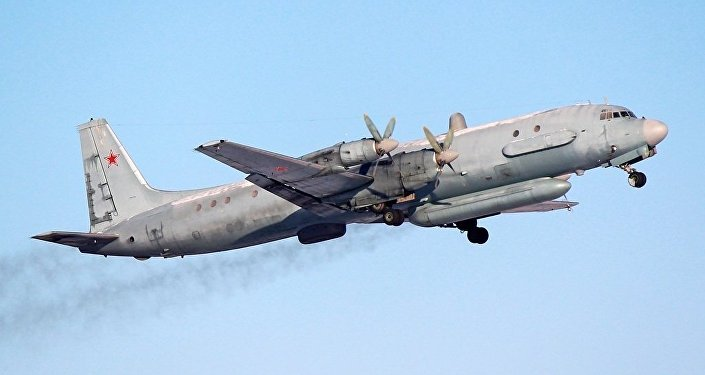 A Russian Air Force Ilyushin Il-20 reconnaissance aircraft.