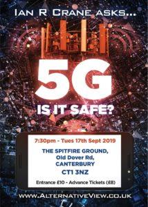 5G Is it safe?  Tonight Canterbury.