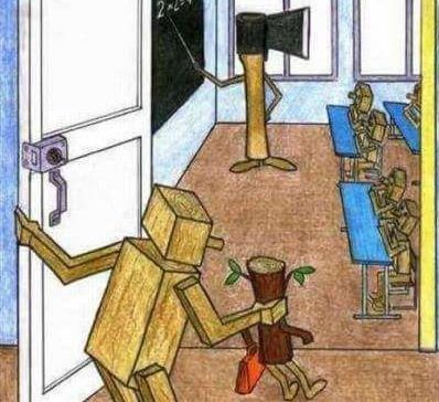 the saddest image describing the school system