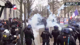 Yellow Vests DEFY Covid-19, lockdown & TEAR GAS to protest Macron government (VIDEOS)