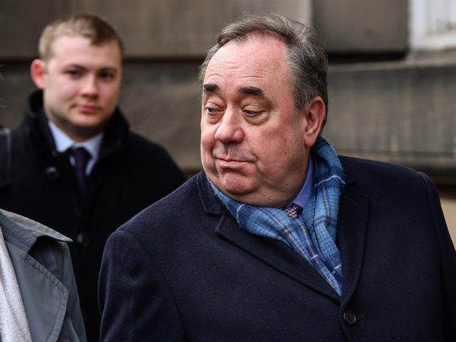 EDINBURGH, SCOTLAND - MARCH 13: Former Scottish First Minister Alex Salmond departs the High Court at Edinburgh High Court on March 13, 2020 in Edinburgh, Scotland. The former Scottish National Party leader is standing trial on allegations he sexually assaulted 10 women while serving as the country's first minister. He …