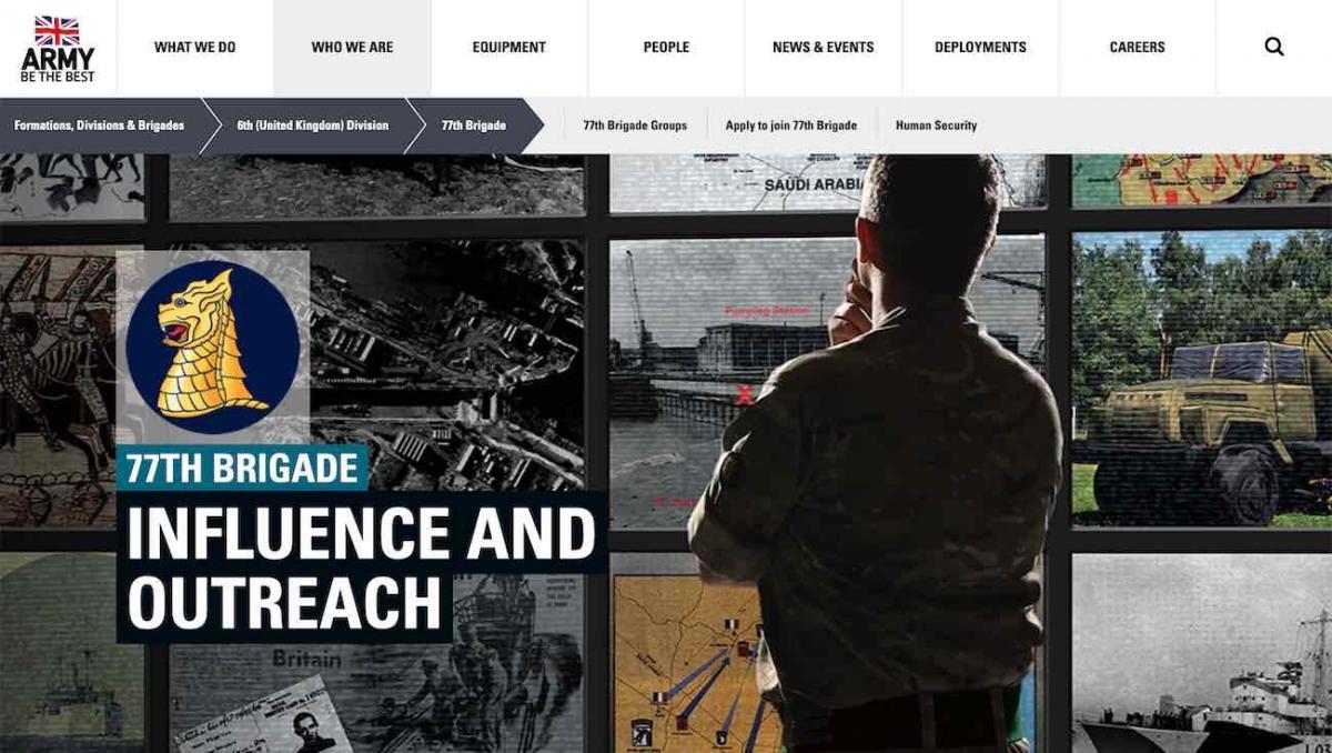 77 Brigade website