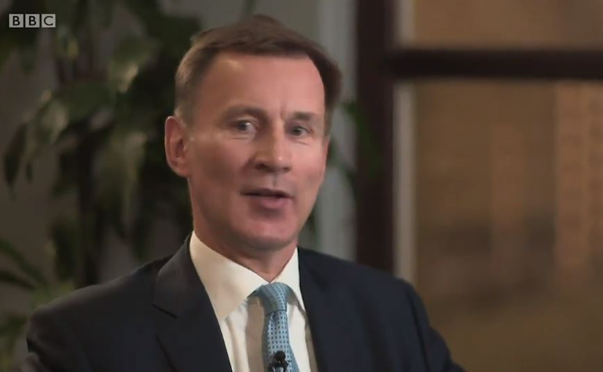 Ex-Health Secretary Mr Hunt, now chairman of the Commons health committee, appeared on BBC's Newsnight and claimed the PM is putting the economy before safety