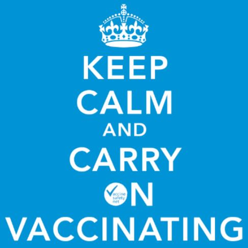 The Keep Calm meme taken from the PHE document.