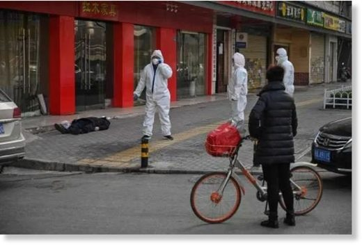 people dead street China virus