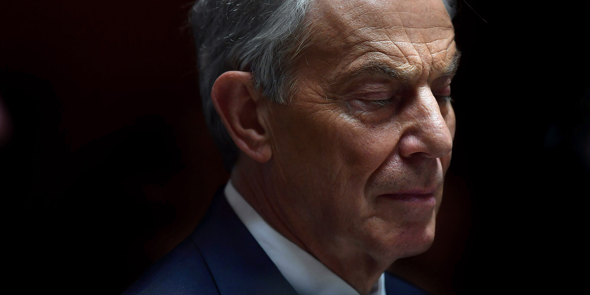 WICKLOW, IRELAND - MAY 12: Former British Prime Minister Tony Blair pauses as he addresses the media after attending the European People's Party (EPP) Group Bureau meeting at Druids Glen on May 12, 2017 in Wicklow, Ireland. Brexit and negotiating objectives will top the agenda at the meeting alongside the unique circumstances regarding the hard border issue between northern and southern Ireland, the only physical border between the United Kingdom and Europe. Mr Blair has signaled a return to politics in light of the Brexit vote. The meeting also features European Commission Brexit chief negotiator Michel Barnier. (Photo by Charles McQuillan/Getty Images)