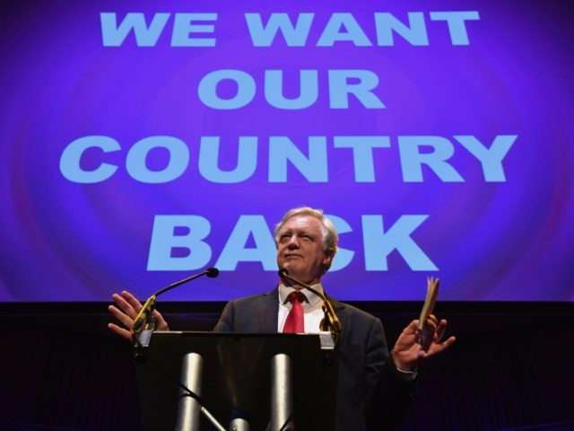 GATESHEAD, ENGLAND - JUNE 20: Conservative MP David Davis attends the final 'We Want Our Country Back' public meeting of the EU Referendum campaign on June 20, 2016 in Gateshead, England. Campaigning continues across the UK as the country goes to the polls on Thursday, to decide whether Britain should …
