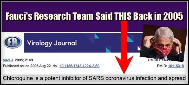 """Deadly Cover Up: Fauci Approved Hydroxy 15 Years Ago to Cure Coronaviruses; 'Nobody Needed to Die"""""""