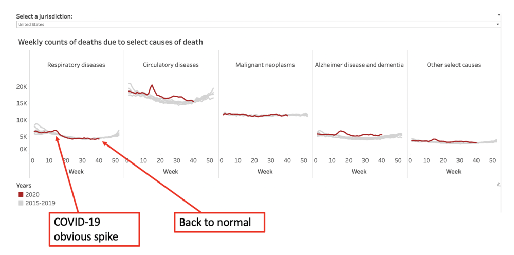 All-cause mortality has normalized in the USA