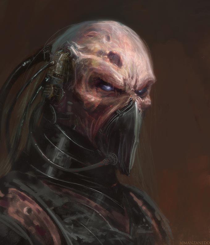 cyborg in mask