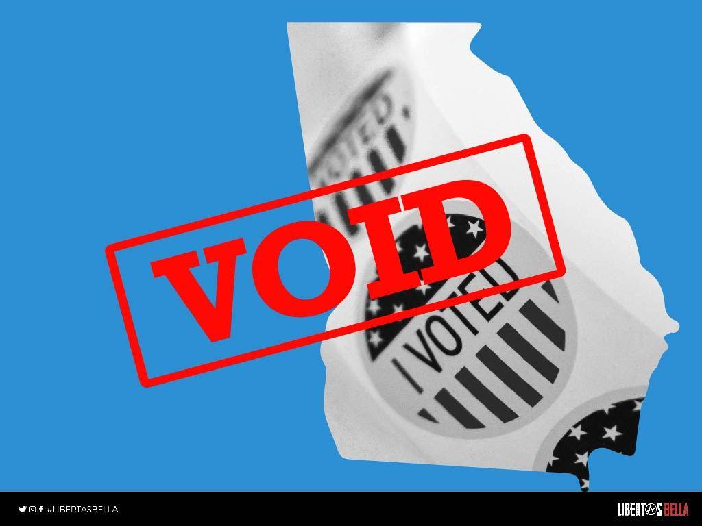 2020 Georgia Election Fraud - Georgia state outline