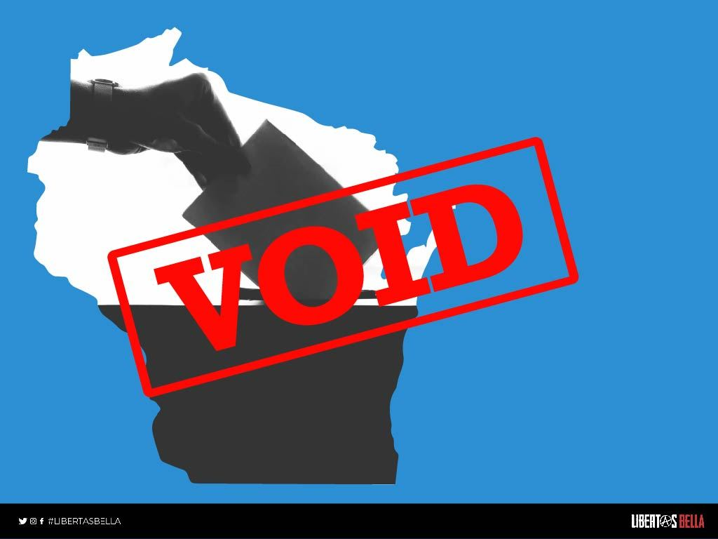 2020 Wisconsin Election Fraud - Wisconsin state outline