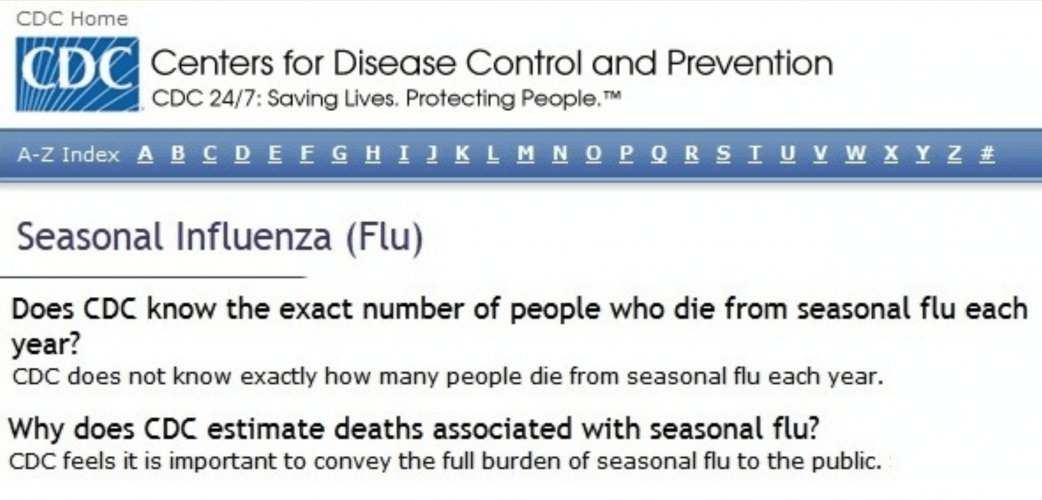 CDC stops counting flu influenza